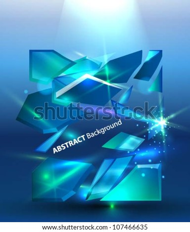 abstract background with ice
