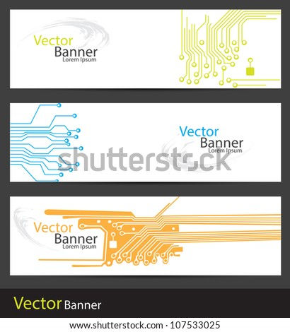 banners having three different