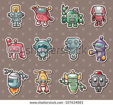robot stickers
