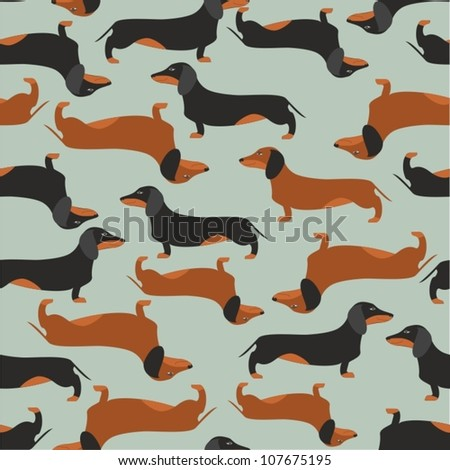 seamless pattern with dachshound