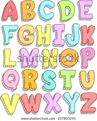 Alphabet Cartoon Letters Free Vector Download 18252 For Commercial Use Format Ai Eps Cdr Svg Illustration Graphic Art Design Sort