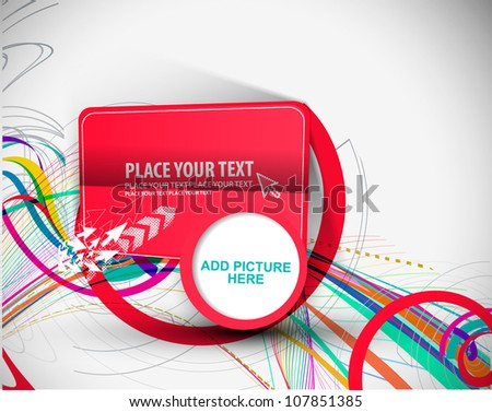 abstract funky graphic design
