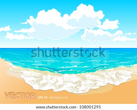 beautiful tropical beach with a