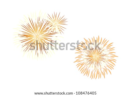 vector icon fire works
