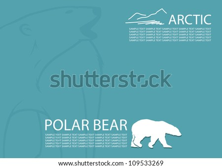 polar bear background   vector