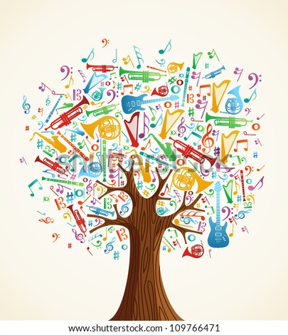 abstract musical tree made with