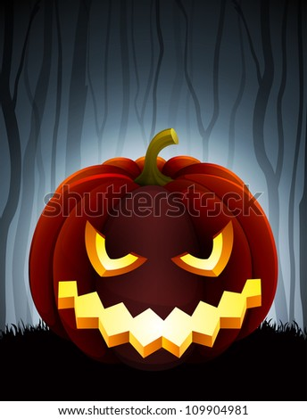 halloween illustration with