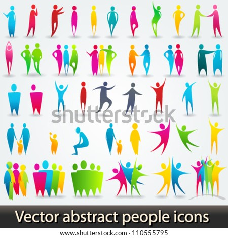 vector set of colorful abstract