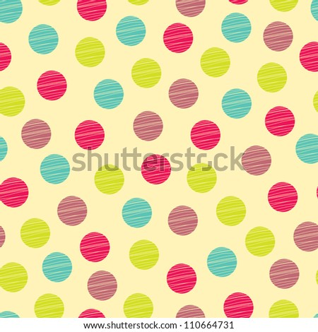 seamless pattern  polka dot