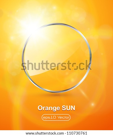 sunny orange background  with