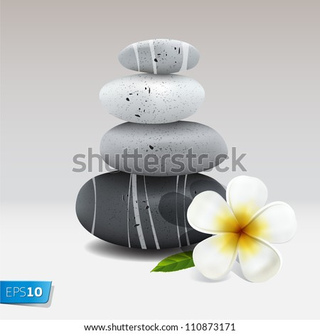 spa still life with frangipani
