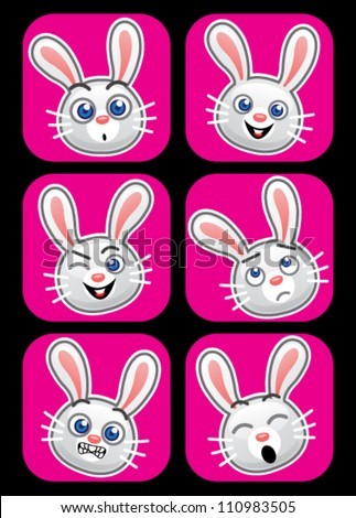 rabbit face expressions
