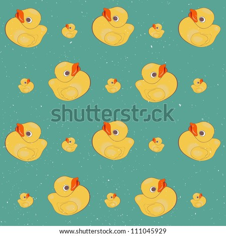 Rubber Ducks Pattern With Rubber Duck