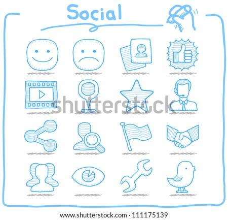pure series   hand drawn social