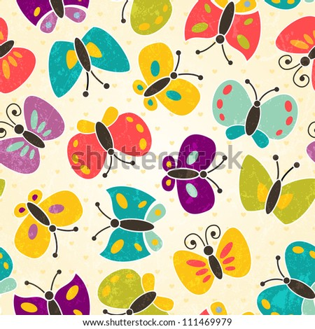 butterfly seamless pattern eps