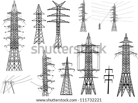 Clipart Electricity Pylon Electrical Pylons Isolated