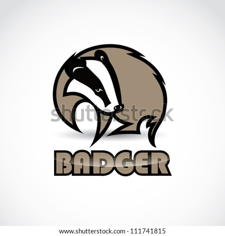 badger sign   vector