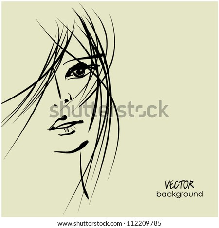art sketching vector beautiful