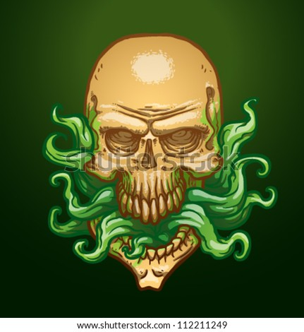 necromancer skull  vector 02