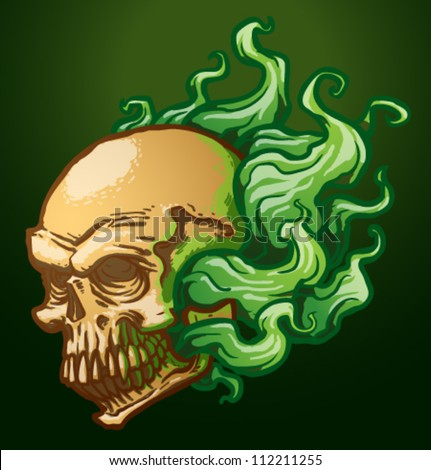 necromancer skull  vector 03