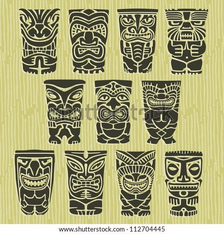 vintage carved polynesian tiki