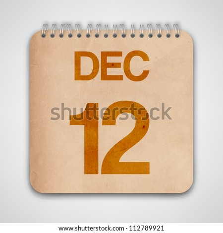 12th december on old notebook