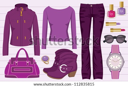 fashion set with jeans and a