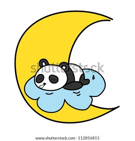baby panda sleeping on the