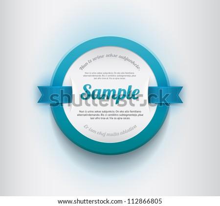 white vector round plastic