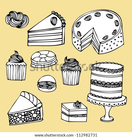 pastry desserts vector