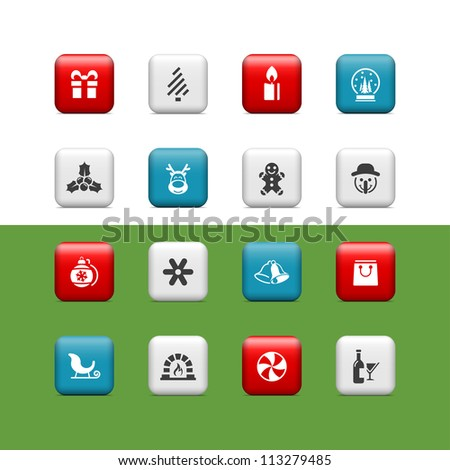 christmas icons buttons
