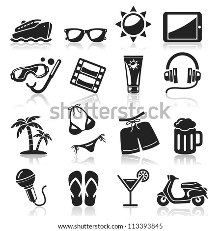 travel icons set3 vector eps 10