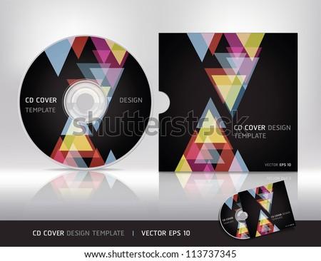 cd cover design templatevector