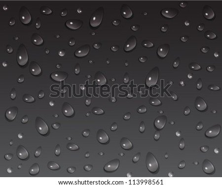 drops of water on a dark