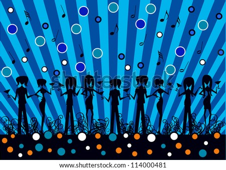 abstract vector backdrop design