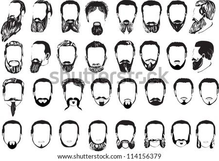 illustration with men beard