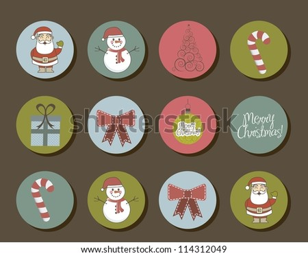 cute objects christmas  vintage