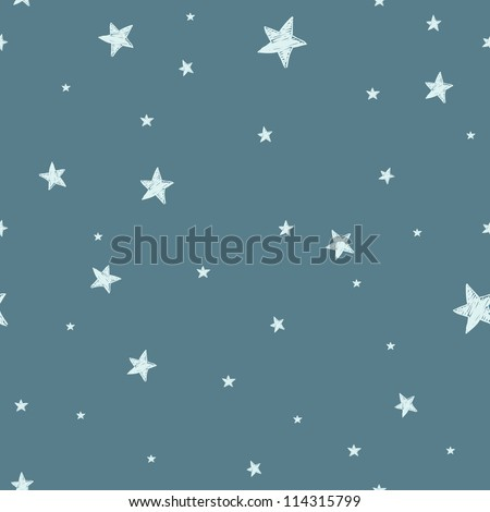 seamless pattern with night sky