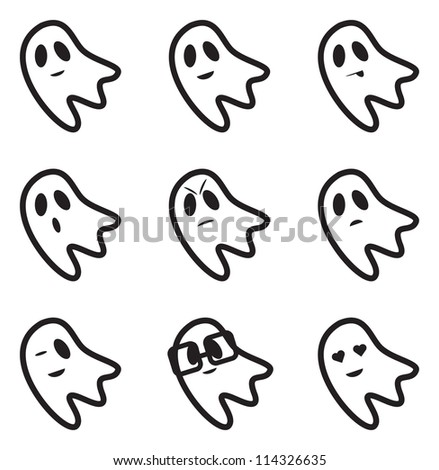 ghost face expressions icons