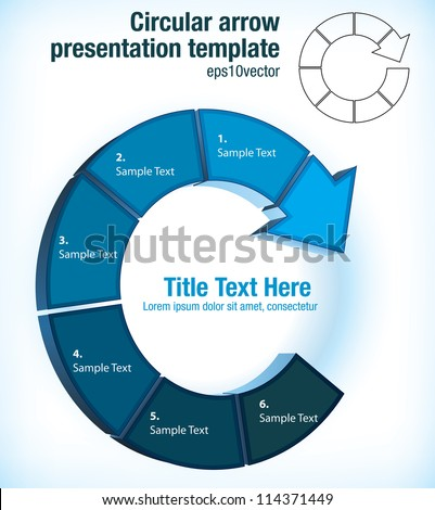 Arrow flow chart template and images circular arrow pictogram flow chart presentation template ccuart Image collections