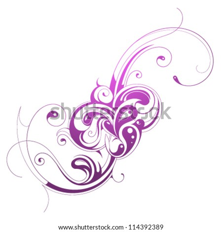 stock-vector-calligraphic-swirls