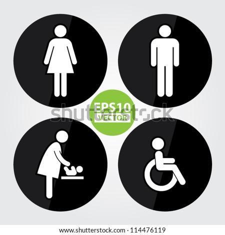 Advertising. Ladies toilet door sign free vector download  7 556 Free vector