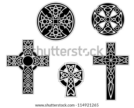 set of vintage irish celtic