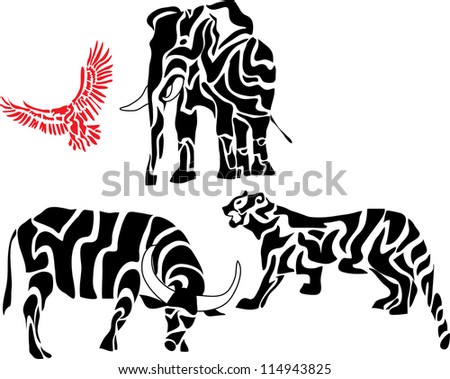 set of african animal