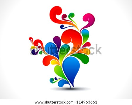abstract colorful floral