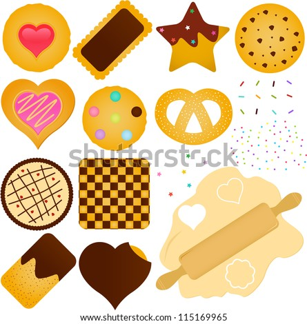 a set of vector icons   cookies
