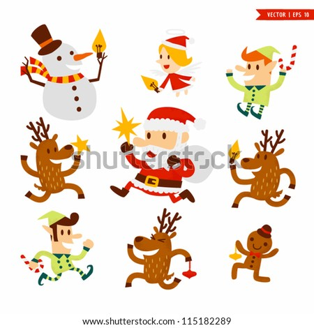 christmas character set