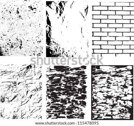 grunge textures set background