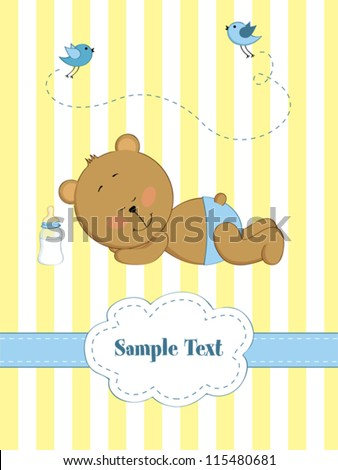 baby boy greeting card with