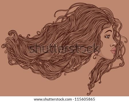 beauty salon  portrait of